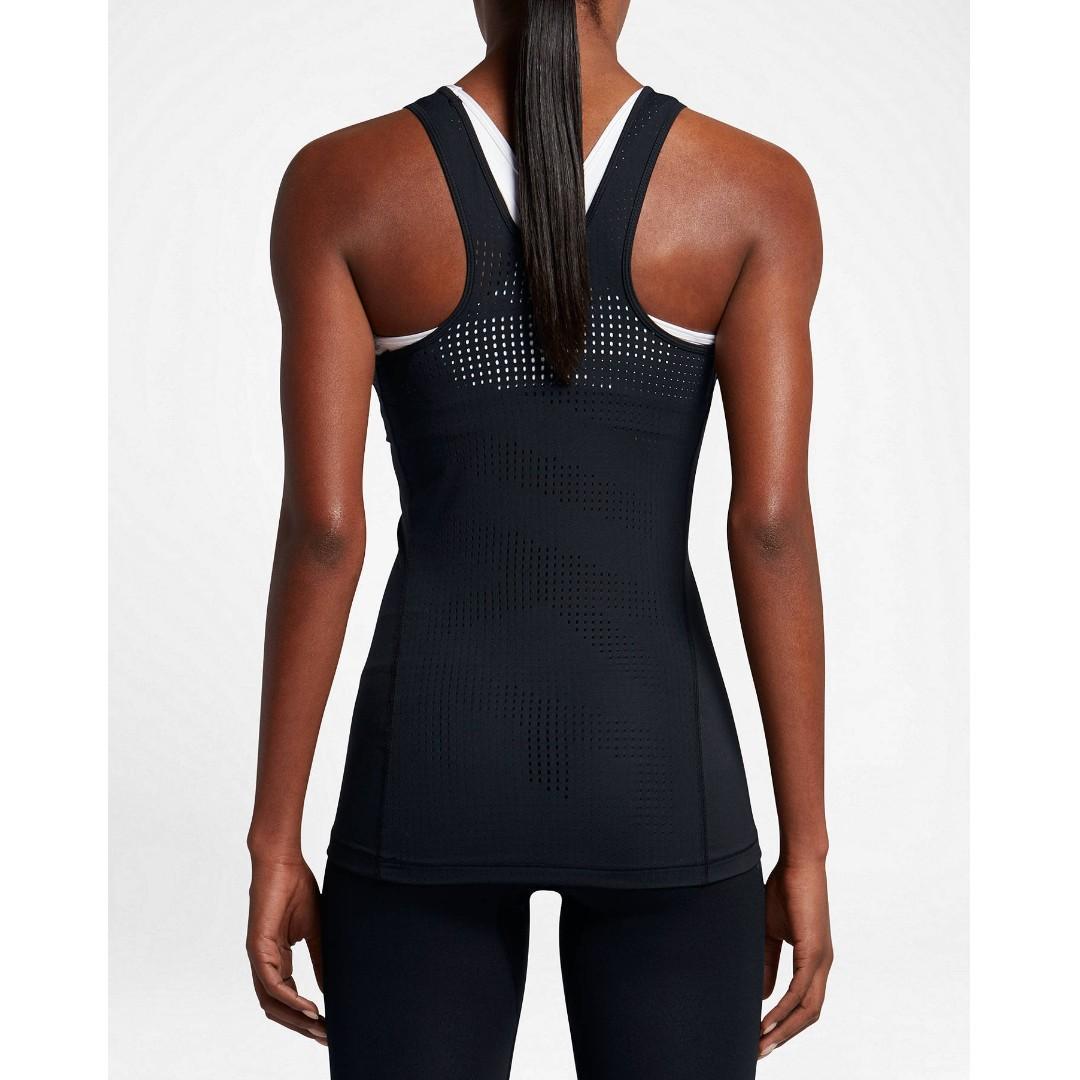 Nike Pro 'HyperCool' Women's Black Training Tank Top Size XS RRP $50.00