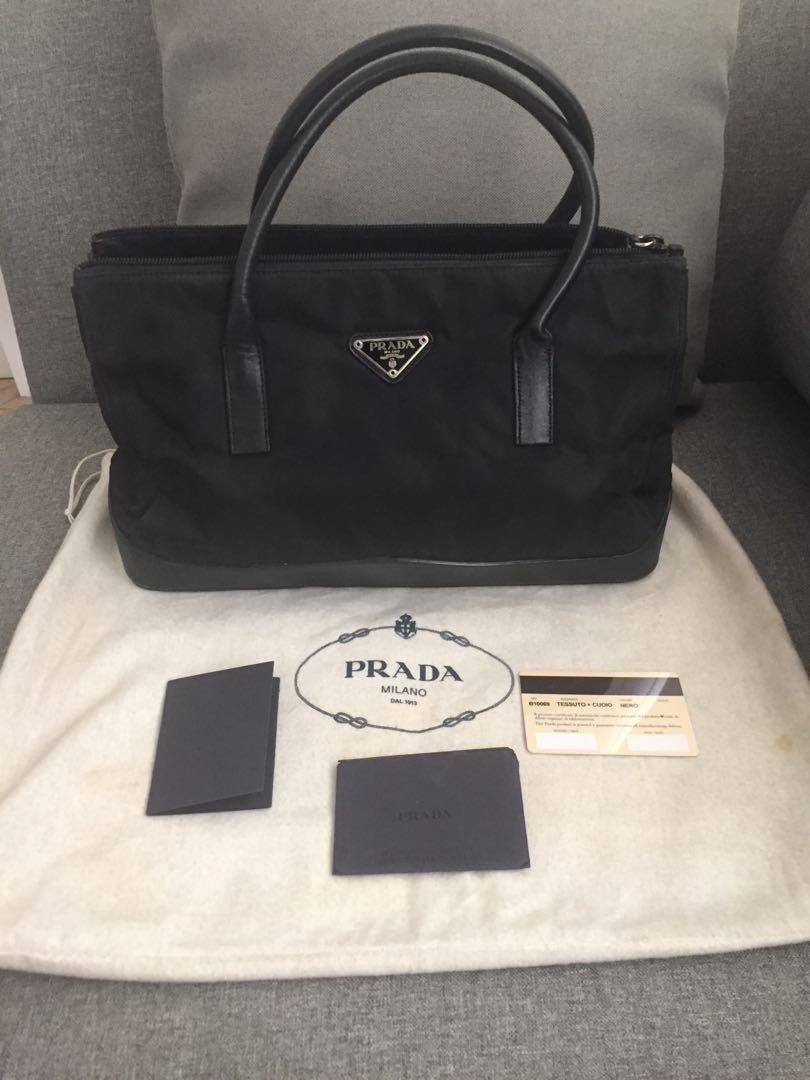 8835203f4a5c Prada Tessuto + Cuoio Tote, Luxury, Bags & Wallets, Handbags on ...