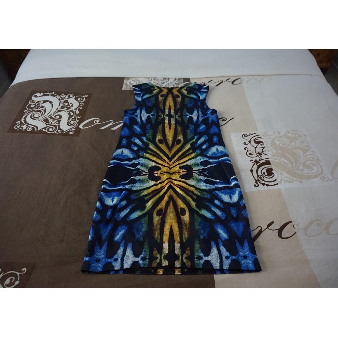 SABA Multicoloured 'Butterfly' Sleeveless Shift Dress Size 8 RRP $299.00