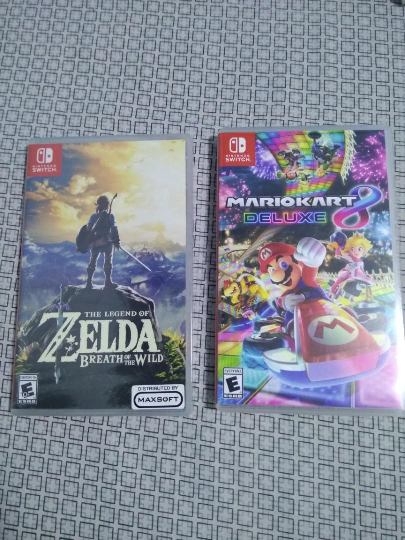 Switch games for sale (Zelda and Mario Kart 8)