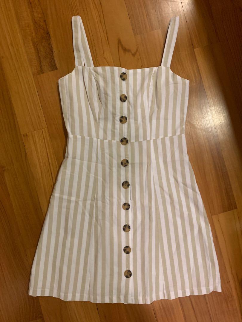 a3ef86dc2db TEM stripe button down linen dress