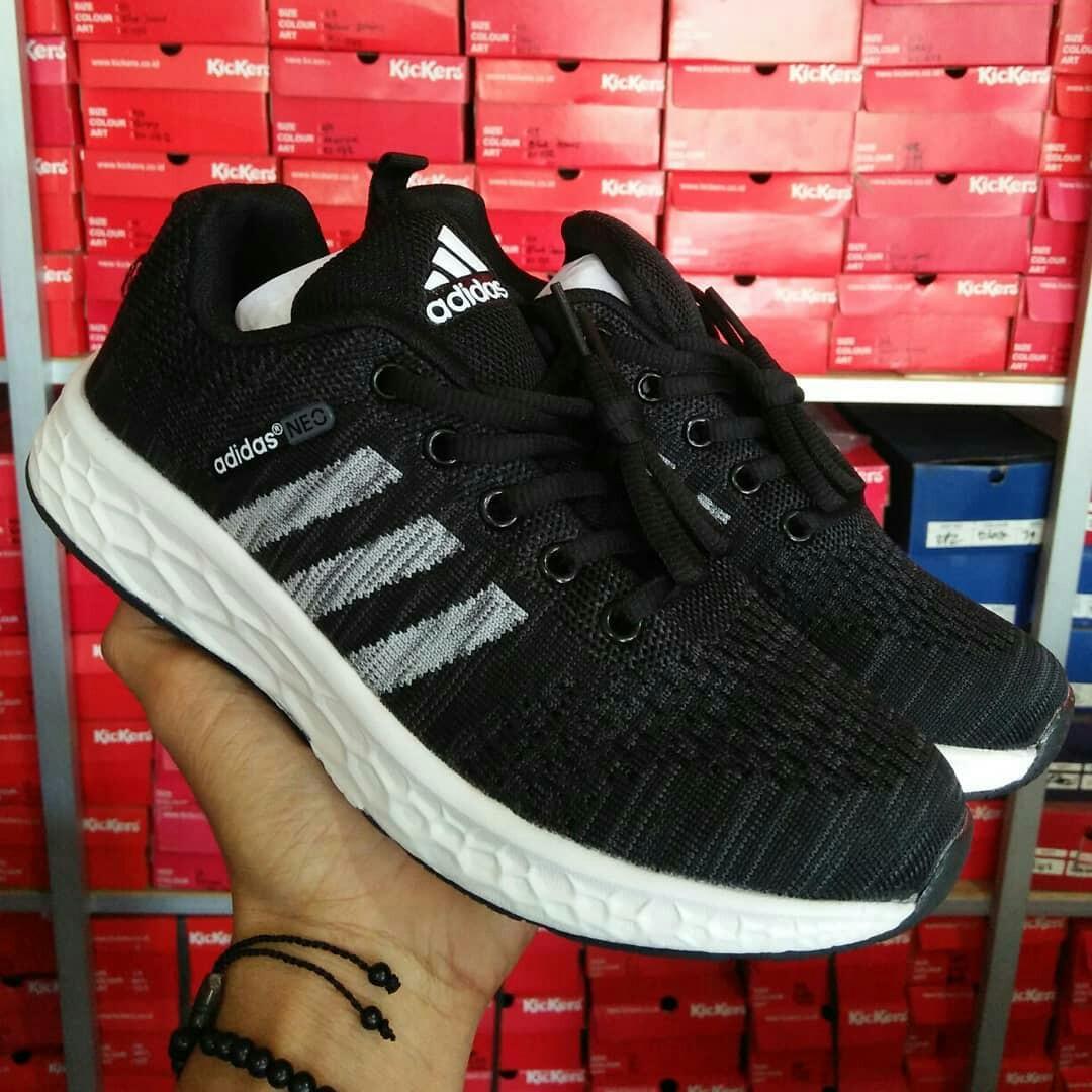 TERMURAH Sepatu Adidas Neo Hitam Putih Imvort High Quality e23a2bde41