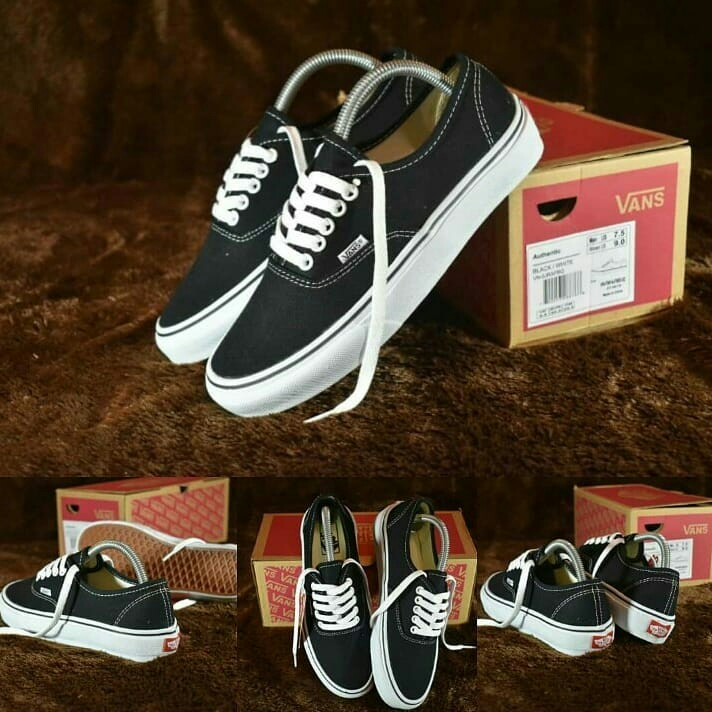 TERMURAH Sepatu Vans Authentic Black White Imvort High Quality ... 84cdb788ce