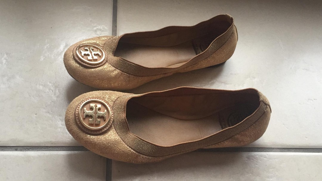 788ab536abd2 Tory Burch Flats Ballet womens ladies leather shoes