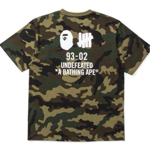 a879401d UNDEFEATED X BAPE WOODLAND CAMO TEE, Men's Fashion, Clothes, Tops on ...