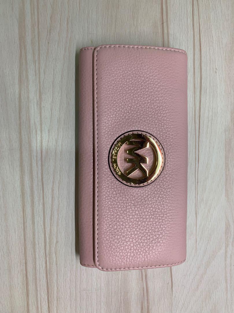 58db36189f46 Unused Michael Kors Pink Wallet