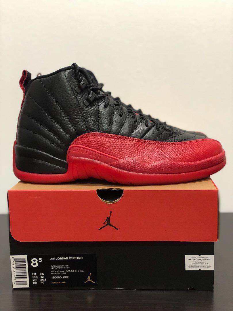 89bd0692a832 US8.5 Air Jordan 12 Flu Game