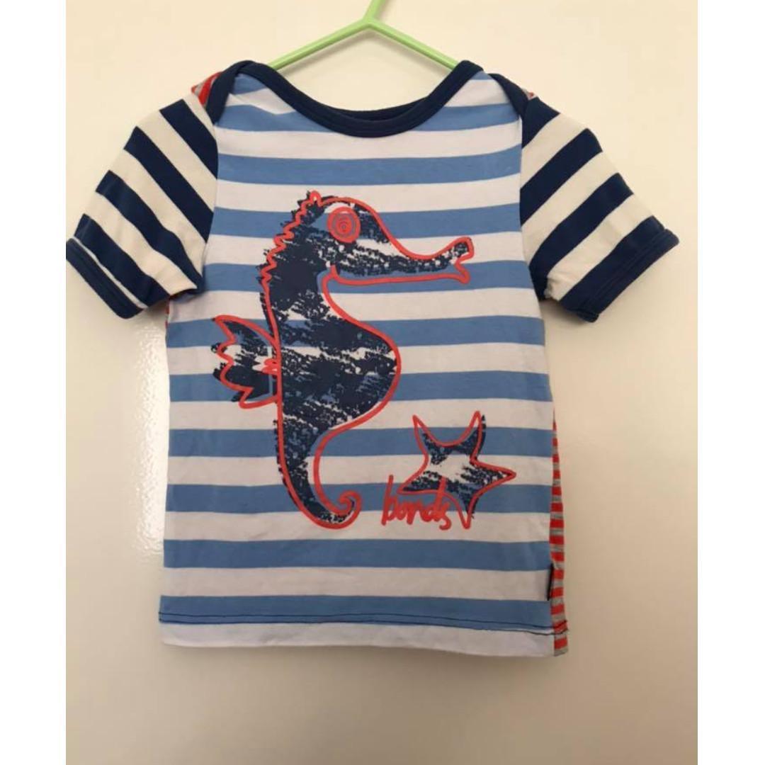 Vgc Bonds size 1 seahorse tshirt tee (2010) rare vintage item