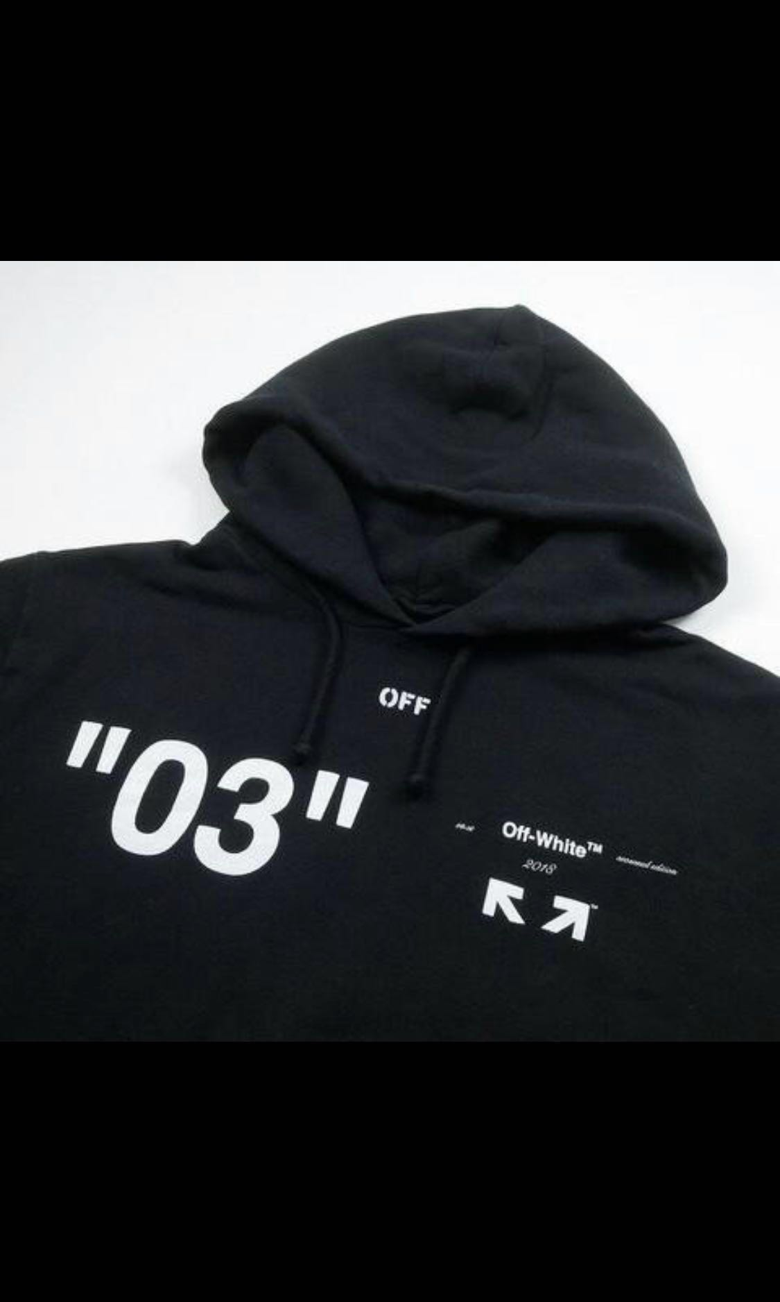 """0401b92496aa WTS Off white """"for all"""" 03 black hoodie"""