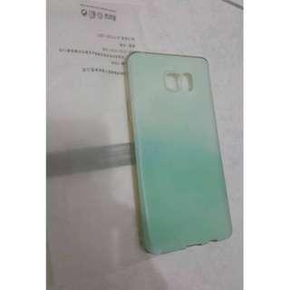 🚚 三星Note5漸層綠手機軟殼