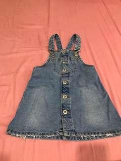 Zara girls 吊帶裙