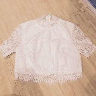 Love Bonito Lace Crop Top