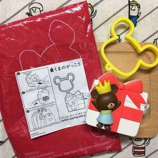 🇯🇵日本麥當勞 小熊學校 玩具 貼紙 吊飾