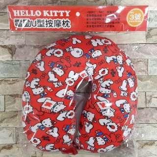 Kitty 電動 按摩 頸枕 按摩頸枕 按摩枕 U型枕 正版 三麗鷗 hello kitty 全新 紓壓 聖誕節 禮物