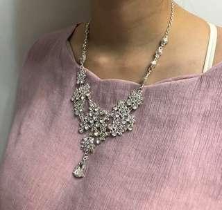 Women's necklace & ear rings (whole set) 👸閃鑽女士頸鍊及耳環  (一套)