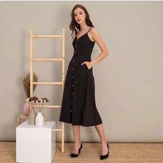 Madelaine button maxi dress