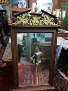 Wall mirror peranakan antique antik cermin dinding