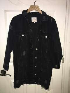 ZARA Long Oversized Denim Jacket