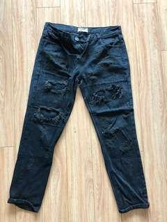 One teaspoon black ripped jeans