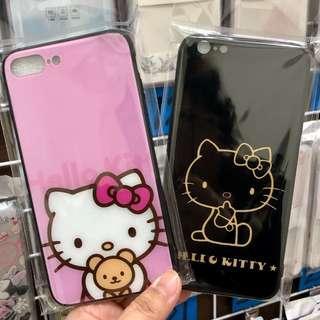🚚 iphone 可愛kitty玻璃殼手機殼