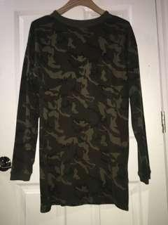 M Boutique Camo Sweater Dress