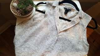 Patterned Button-Up Blouse F21