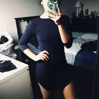 Boohoo 3/4 sleeve dress