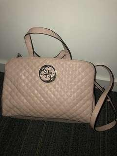 Pink guess bag quilted detail pink handbag guess brand new never used Christmas present