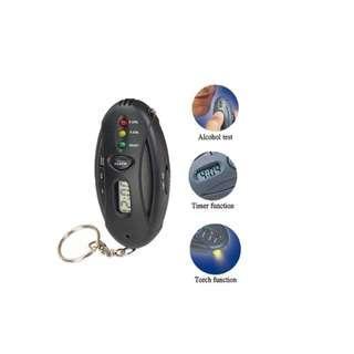 Mini Breathalyser With Flashlight And Key Chain