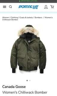 CANADA GOOSE CHILLIWACK bomber (Olive green) XS