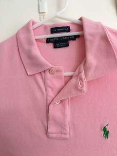 Pink polo top