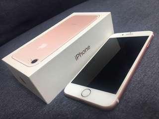 🚚 Iphone7 128gb 玫瑰金