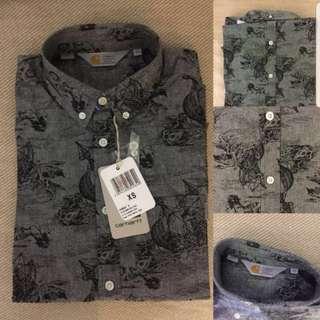Carhartt WIP LS Crandall Shirt, Fleet Print/Black