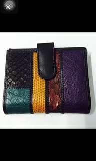Carlos Falchi Crocodile Leather Wallet