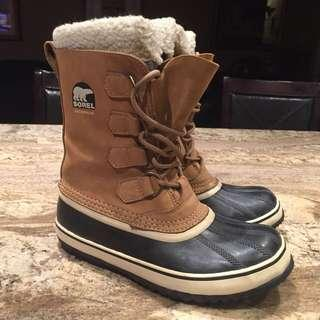 Sorel 1964 PAC 2 Waterproof Winter Boots in Beige / Buff Size 7