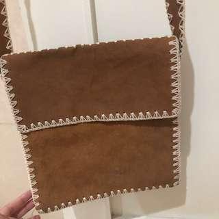 Leather cross body sling bag