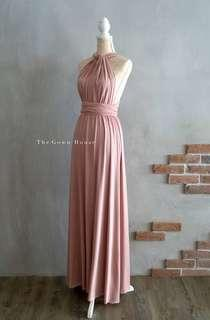 INFINITY DRESS FOR RENT BLUSH PINK