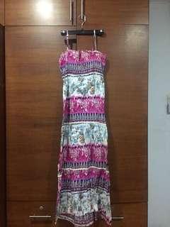 Printed Maxi Dress #prelovedwithlove