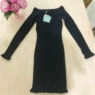 Black Frill Missguided Mini Dress
