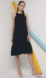 Hollyhoque Peplum Windser Dress Black