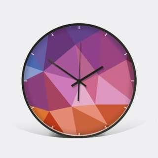 Colored Moments - TWO.2 | Decor Wall Clock | Metal Frame