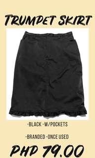 BLACK HIGH WAISTED SKIRT