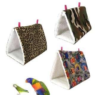 包平郵 新款鳥吊床 鸚鵡吊床 三角窩鳥吊床 小寵冬季保暖吊床 多色可選