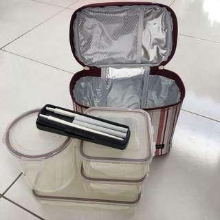Lunch Box Set(Lock&Lock)+ Free Lunch Box Set(Thermos)