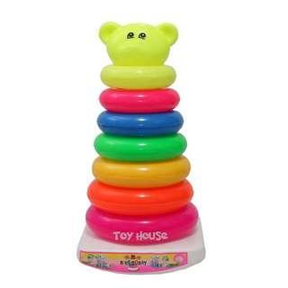 Mainan Anak Ring Donat 7 Pcs - Mainan Edukatif