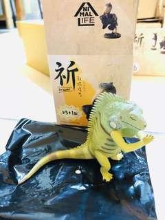 朝隈俊男  祈 系列 7-11 盒玩 蜥蜴