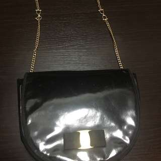 b4167497910a black bag with gold chains | Bags & Wallets | Carousell Philippines
