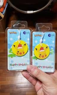 Chrismas Pikachu Ezlink Charm for sale