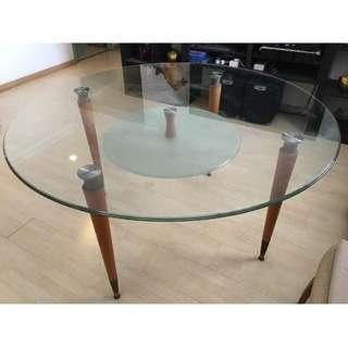 Round dining table (without chairs) for sale