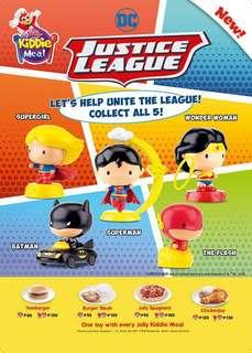 DC Justice League Wonder Woman Superman Flash Supergirl by Jollibee